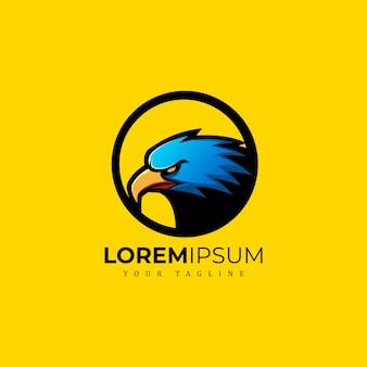 Águia mascot logo premium