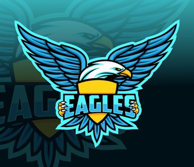 Águia mascote esport logotipo