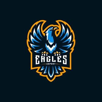 Águia mascote logotipo esport ilustração
