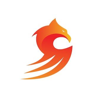 Águia mascote logotipo vector