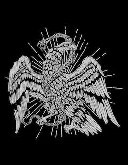 Águia mexicana como escudo