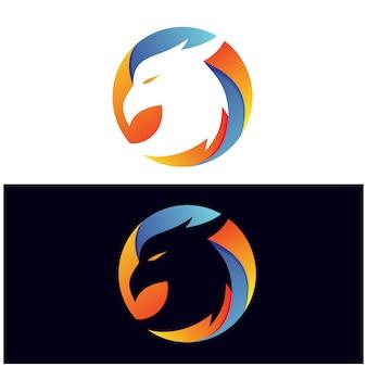 Águia no logotipo do círculo