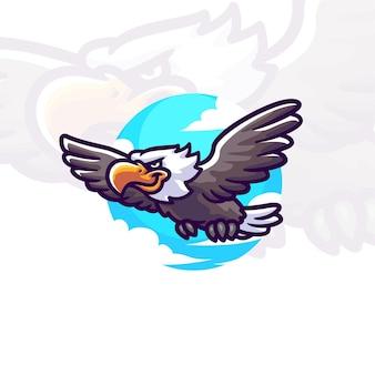 Águia personagem de ilustração de desenho animado