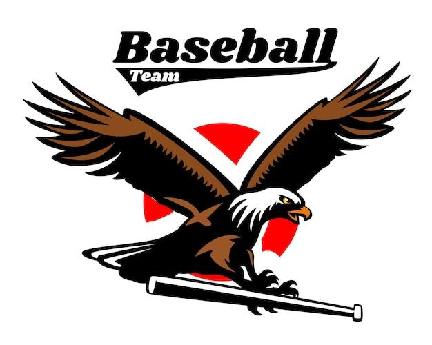 Águia segurando bastão de beisebol