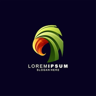 Águia tecnologia logotipo design ilustração