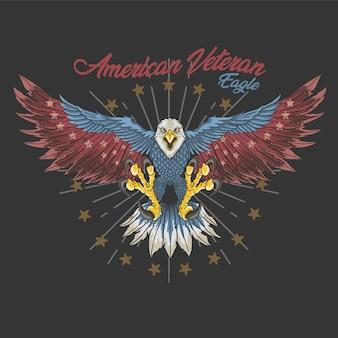 Águia veterana americana