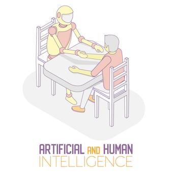 Ai e humano isométrico