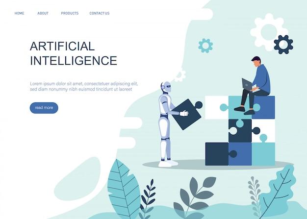 Ai ou conceito de inteligência artificial com robô ai. símbolo da cooperação futura ai, avanço da tecnologia ai, inovação ai.