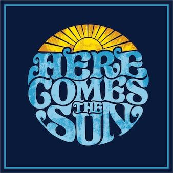 Aí vem o rótulo do sol