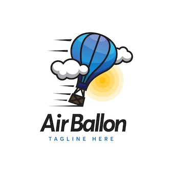 Air ballon logo travel minimalismo e estilo moderno