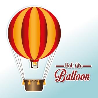 Airballoon design sobre ilustração de backgroundvector branco