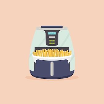 Airfryer com batatas fritas