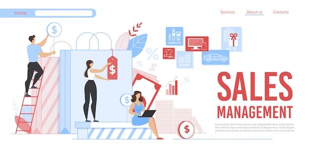 Ajuda da publicidade em banner plano no gerenciamento de vendas