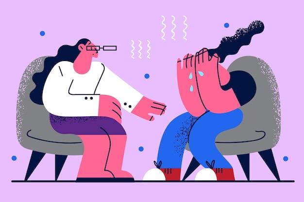 Ajuda e assistência de psicoterapeuta