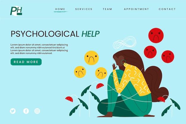 Ajuda psicológica - página de destino
