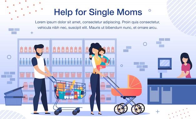 Ajuda social para mãe solteira