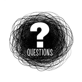 Ajudar e apoiar o ponto de interrogação rabisco estilo de fundo