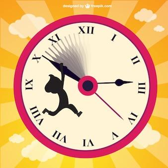 Ajustar o relógio para trás vector