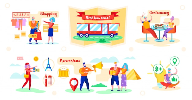 Ajuste a melhor ilustração do vetor da excursão do ônibus das vantagens.