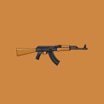 Ak-47 em design plano