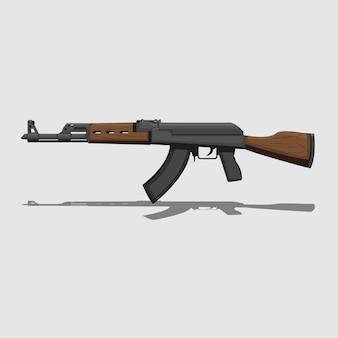 Akm assault rifle vector illustration