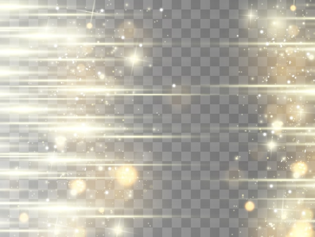 Alargamento horizontal. feixes horizontais de laser, feixes de luz. listras brilhantes sobre um fundo escuro.