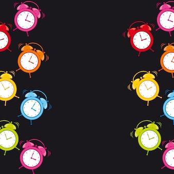 Alarme de relógio bonito com espaço para cópia