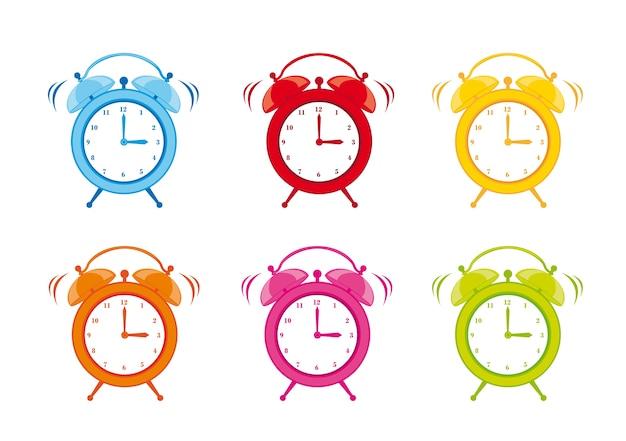 Alarme de relógio bonito isolado