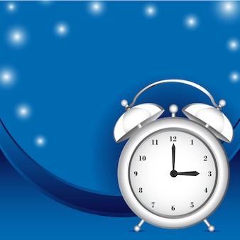 Alarme de relógio branco