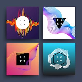 Álbum de música, movimento de onda de cor gráfico