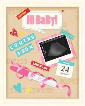 Álbum de sucatas de bebê realista