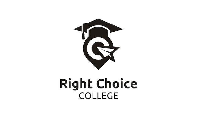 Alcançar o melhor para escola / universidade / faculdade / logotipo de pós-graduação