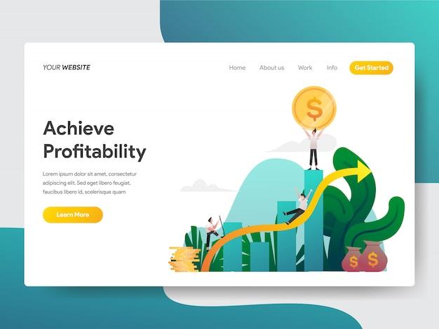 Alcance a lucratividade para a página do site