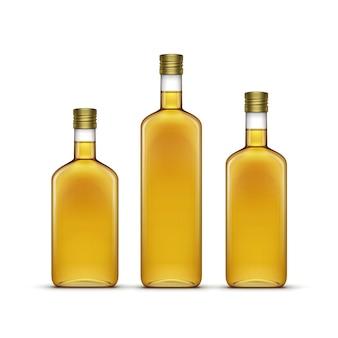 Álcool bebidas bebidas uísque ou girassol azeite garrafas de vidro