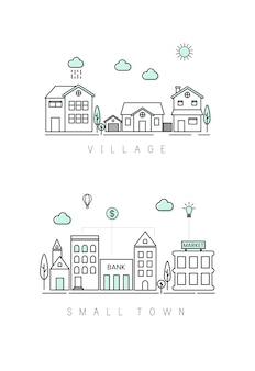 Aldeia e cidade pequena