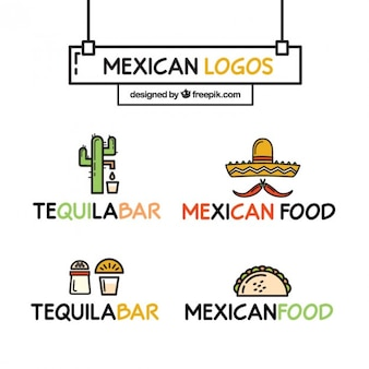 Alegre mexicano logos restaurante de comida