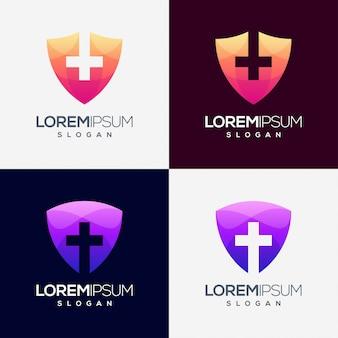 Além de design de logotipo gradiente colorido