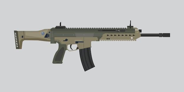 Alemã arma principal riffle hk433 vector plana ilustração