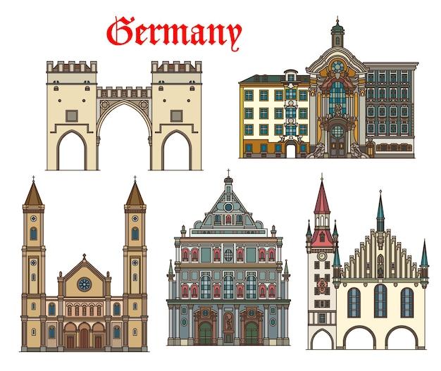 Alemanha, arquitetura de munique, edifícios históricos
