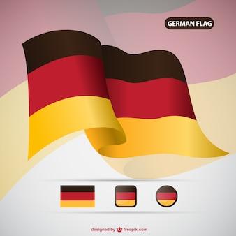 Alemanha bandeira do vetor