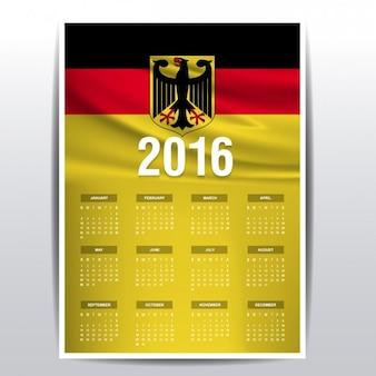 Alemanha calendário de 2016
