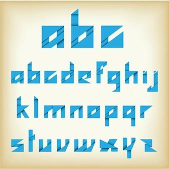 Alfabeto abstrato azul