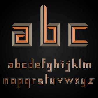 Alfabeto alaranjado abstrato
