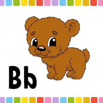 Alfabeto animal. zoo abc. animais fofos de desenhos animados sobre fundo branco.