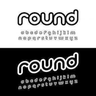 Alfabeto arredondado criativo.