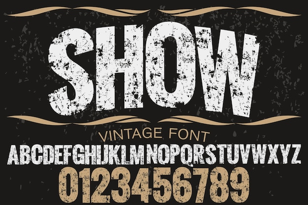 Alfabeto artesanal font design show