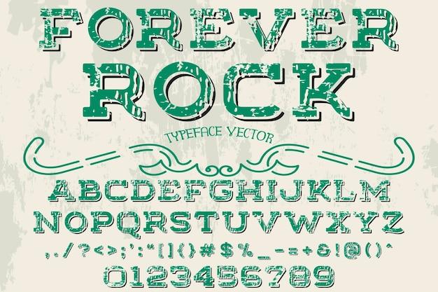 Alfabeto artesanal, para sempre rock
