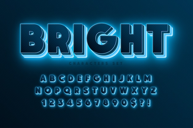 Alfabeto colorido com design de logotipo