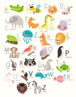 Alfabeto com animais