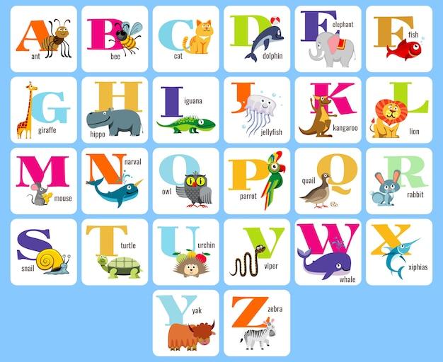 Alfabeto completo de crianças